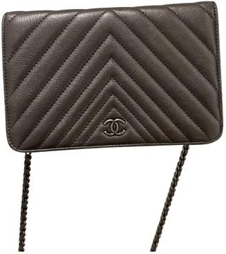Chanel Wallet on Chain Metallic Leather Handbags