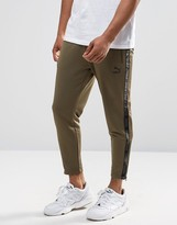 Puma Urban Cropped Joggers In Green