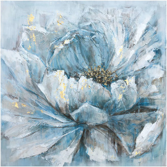 """AR+ """"Pretty in Baby Blue"""" Hand Painted Canvas Artwork; Floral Art; Fine Ar"""