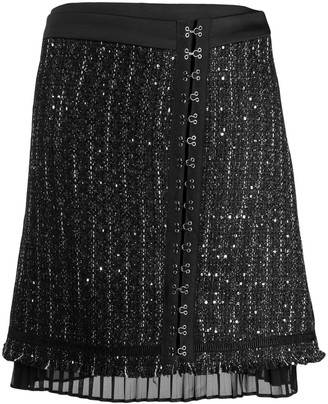 Karl Lagerfeld Paris Sparkle Boucle Skirt