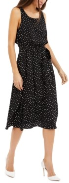 INC International Concepts Inc Polka-Dot Blouson Dress, Created for Macy's