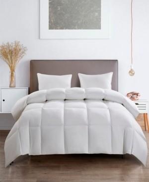 Serta Light Warm White Goose Feather Down Fiber Comforter Twin