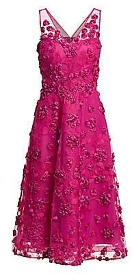 Teri Jon by Rickie Freeman Women's Appliquéd Embroidered Dress