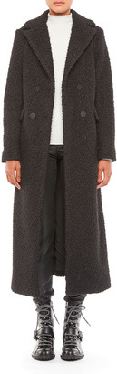 Emporio Armani Double Breasted Full Length Boucle Coat