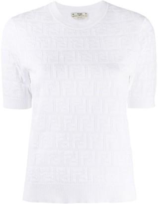 Fendi FF print knitted top