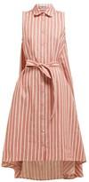 Palmer Harding Palmer//harding - Sedona Striped Cotton-blend Shirtdress - Womens - Red Stripe