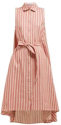 Palmer Harding Palmer//Harding Palmer//harding - Sedona Striped Cotton-blend Shirtdress - Womens - Red Stripe