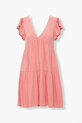 Forever 21 Tiered Cap-Sleeve Mini Dress