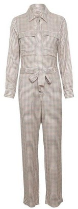 Soaked in Luxury - Jumpsuit Kaia - Anitique White Checked / XS
