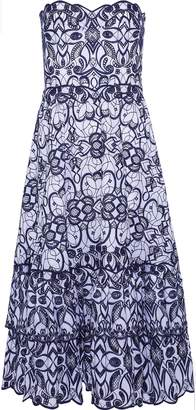 Jonathan Simkhai Strapless Broderie Anglaise Cotton Midi Dress