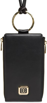 Dolce & Gabbana Metal Label Leather Crossbody Bag