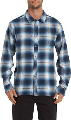 Billabong Coastline Plaid Flannel Button-Up Shirt