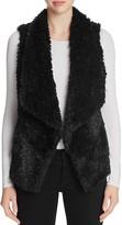 Calvin Klein Draped Faux Fur Vest