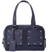 Marc by Marc Jacobs C Lock Small Suede Satchel