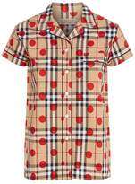 Burberry Short Sleeve Pyjama Top