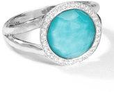 Ippolita Stella Mini Lollipop Ring in Turquoise Doublet with Diamonds, 0.15ctw, Size 8