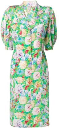 Emanuel Ungaro Pre Owned Floral Print Midi Dress