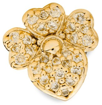 Kate Spade Goldtone & Cubic Zirconia Pave Pansy Stud Earrings