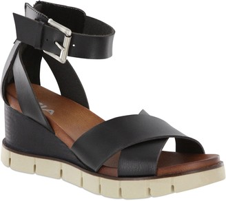 Mia Ankle-Strap Wedge Sandals - Lauri