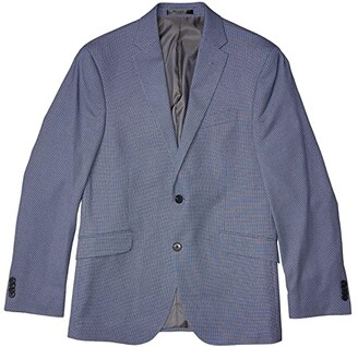 Kenneth Cole Reaction Tic Sport Coat (Navy/White) Men's Clothing