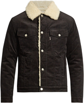 MAISON KITSUNÉ Faux-shearling lined corduroy jacket