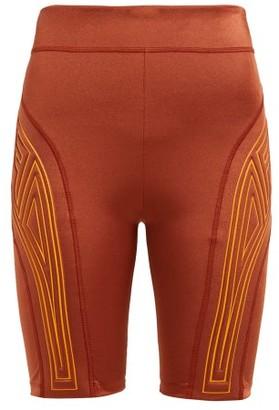 Fendi Logo-embossed Performance Shorts - Womens - Dark Orange