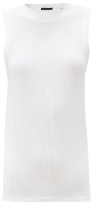 ATM - Ribbed Micromodal-blend Tank Top - White