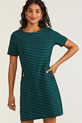 Yumi Nautical Stripe Tunic With Zip Pockets