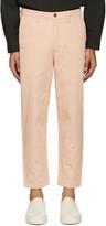 Acne Studios Pink Angus Salt Trousers