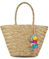 Saks Fifth Avenue Tassel Seagrass Tote