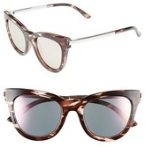 Le Specs Women's 'Le Debutante' 51Mm Cat Eye Sunglasses - Rose Haze/ Peach Mirror