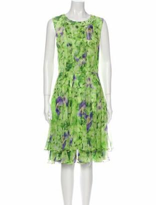 Oscar de la Renta 2013 Midi Length Dress Green
