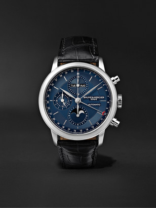 Baume & Mercier Classima Automatic Chronograph 42mm Stainless Steel And Alligator Watch, Ref. No. M0a10484