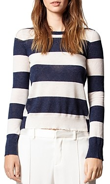 Zadig & Voltaire Striped Cashmere Sweater