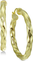 Giani Bernini Twist Hoop Earrings in 18k Gold-Plated Sterling Silver, Created for Macy's