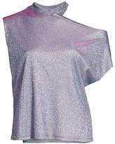 RtA Axel Sparkle Cutout-Shoulder T-Shirt