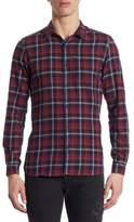 The Kooples Slim-Fit Plaid Cotton Button-Down Shirt
