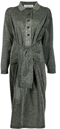 Lanvin Asymmetric Glitter Effect Dress