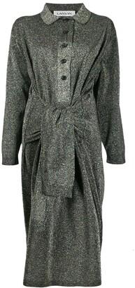Lanvin asymmetric glitter effect dress
