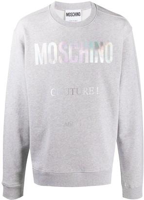 Moschino Couture! print crew sweatshirt