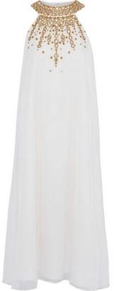 Rachel Zoe Sabrina Embellished Chiffon Midi Dress