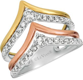 LeVian Le Vian 14K Tri-Color 0.91 Ct. Tw. Diamond Ring