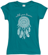 Urban Smalls Peacock 'Catch Your Dream' Fitted Tee - Toddler & Girls