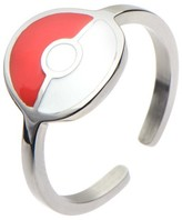 Pokemon Women's Poké Ball Stainless Steel Ring - Red/White