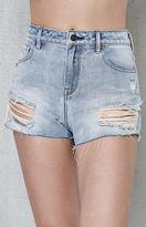 PacSun Birdie Blue High Rise Denim Shorts