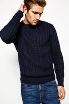 Ebley Rib Cable Crew Neck Jumper
