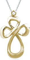 Jessica Simpson Gold Cross Pendant in 10k Yellow Gold