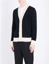 Alexander McQueen Crochet-trim knitted wool cardigan