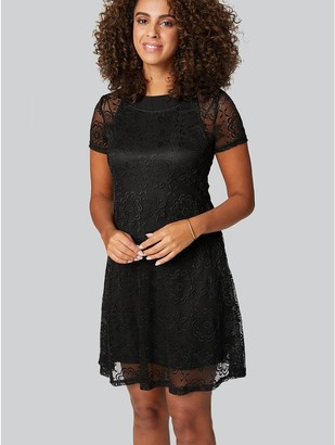 M&Co Lace Overlay Dress