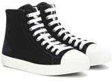 Prada Velvet High-top Sneakers